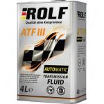 Масло трансмиссионное минеральное ROLF ATF III 4л