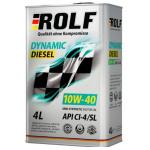 Масло моторное полусинтетическое ROLF Dynamic Diesel 1л 10W40