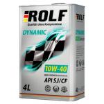 Масло моторное полусинтетическое ROLF Dynamic 4л 10W40