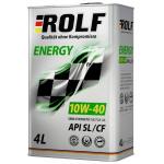 Масло моторное полусинтетическое ROLF Energy 4л 10W40