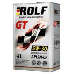 Масло моторное синтетическое ROLF GT 4л 5W40