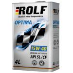 Масло моторное минеральное ROLF Optima 1л 15W40