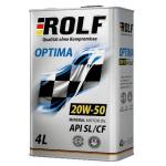 Масло моторное минеральное ROLF Optima 4л 20W50