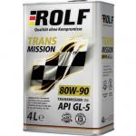 Масло трансмиссионное минеральное ROLF Transmission 4л 80W90